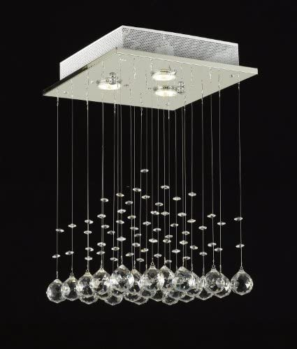 JAC D'LIGHTS J10-C9071S-3us Modern Rain Drop Lighting Crystal Ball Fixture Pendant Chandelier