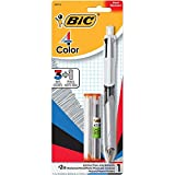 BIC 4-Color 3+1 Ball Pen and Pencil, Medium Point, 0.7 mm Lead, Assorted, 1-Pack