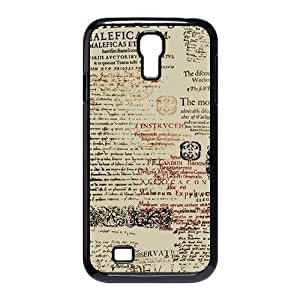 Newspaper Design Hard Plastic Case Cover For Samsung Galaxy S4 I9500-Black/White