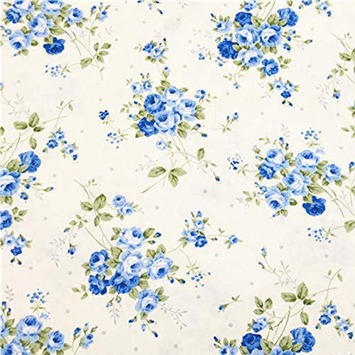 (Rose Floral Cotton Sewing Fabric by The Yard, 100% Cotton, 39