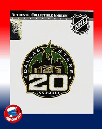 Anniversary 20th Collection - NHL DALLAS STARS 20TH ANNIVERSARY 1993 - 2013 PATCH