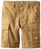 Nautica Sportswear Kids Big Boys' Cargo Short, Caramelize, 14