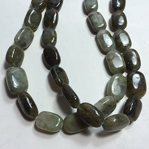 Labradorite Oval Beads (10 x17 Flat Oval Natural Gemstones Beads, 15.5