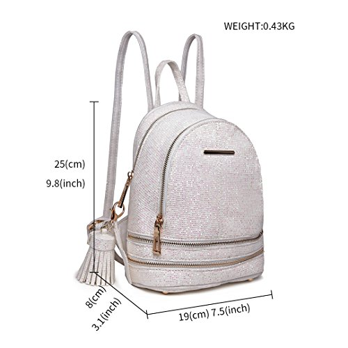 1763 Lulu Leather Ladies Rucksack PU Fashion Beige Bag Shoulder Backpack Miss zxIOdqBwO