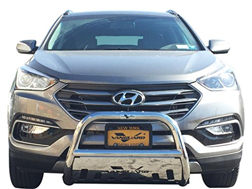 (VANGUARD Off Road VGUBG-0883-1013SS Multi-fit Bumper Guard Stainless Steel Bull Bar with Skid Plate)