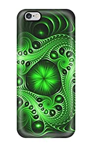 Fashionable Style Case Cover Skin For Iphone 6 Plus- Shapes Textures Shades Artistic Cgi Patterns Green Classical Abstract Other