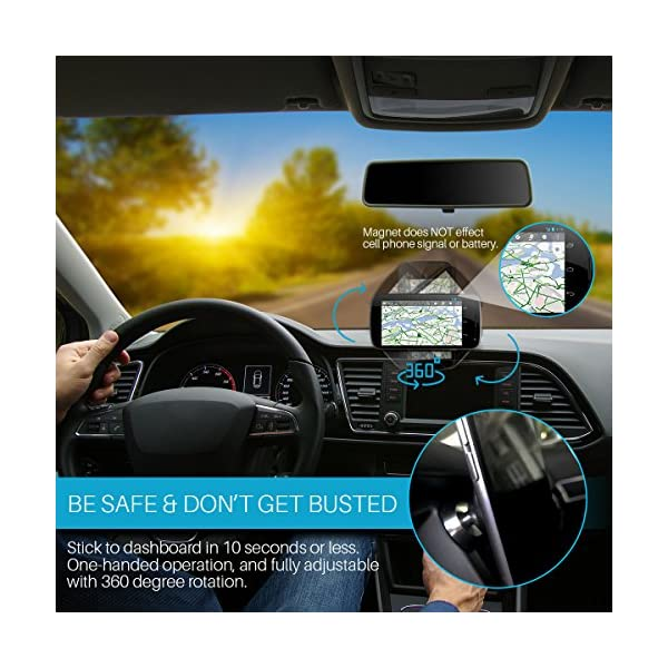 Cell Phone Magnetic Car Mount Hands Free Phone Holder Universal Use All IPhone Samsung Galaxy Phones Tablets GPS Phone Mount Uber Lyft Accessories Useful Gadgets Useful Gifts For Adults