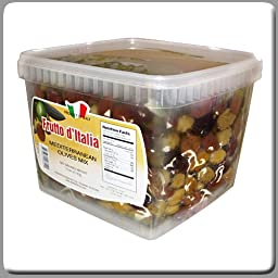 Frutto D\'Italia Mediterranean Olive Mix (Whole) Net 5 Lbs Can