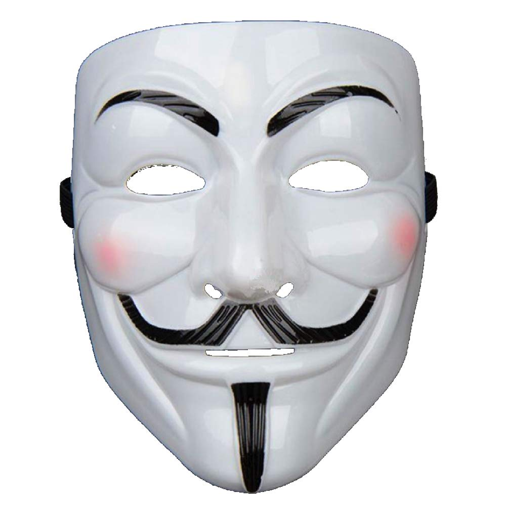 D013 Anonymous Stickers V for Vendetta Sticker Guy Fawkes Sticker Hacker Mask Sticker Anonymous Decal| Premium Quality Anonymous Mask Black Vinyl Decal 5.5-Inches