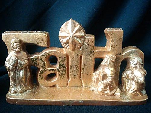 - FAITH Christmas Decoration, FAITH Shelfsitter, Nativity Scene, Wisemen Christmas Decor