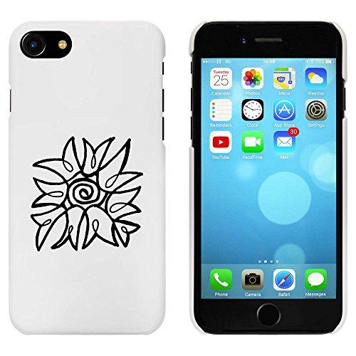 Blanc 'Abstrait Fleur' étui / housse pour iPhone 7 (MC00072782)