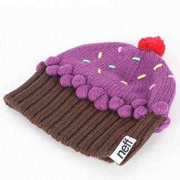bd7719ac949 Neff Cupcake Beanie - neon purple