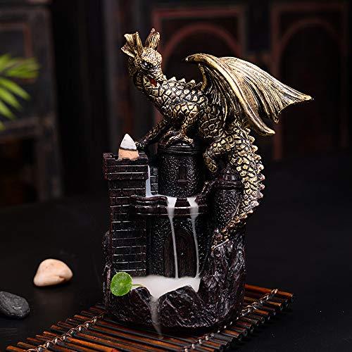 9 Dragons Incense Burner - Ceramic Incense Holder Incense Burner Backflow Censer Dragon