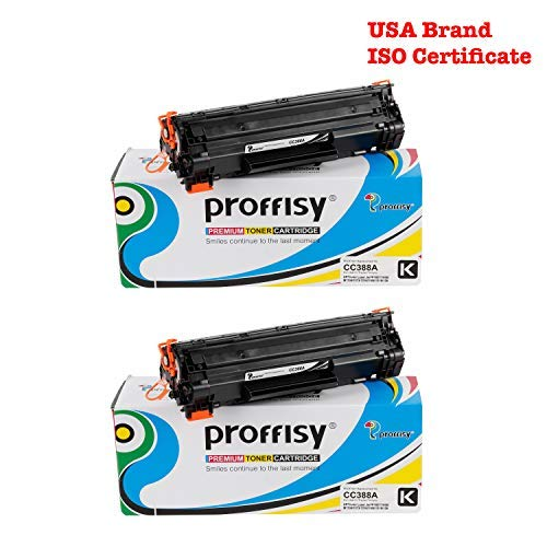 proffisy 88A Replacement for HP CC388A Toner Cartridge Compatible Laser Printers 2 Pieces Inks, Toners   Cartridges