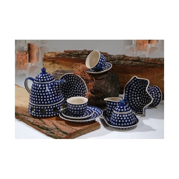 BCV Classic Boleslawiec, Polish Pottery Hand Painted Ceramic Dessert Plate 7.5″, 19.0cm (T-001)