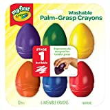 Crayola My First Palm Grip Crayons, Coloring for Toddlers, 6ct