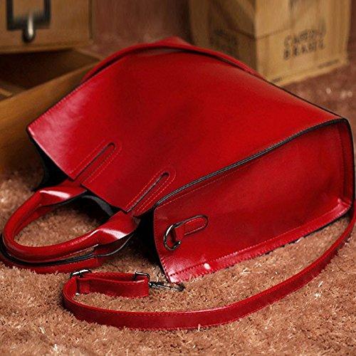 Vacchetta Pelle Hoplsen Rosso Donna Fisso Messenger Della Borsa Bag Di Spalla UqRr5q