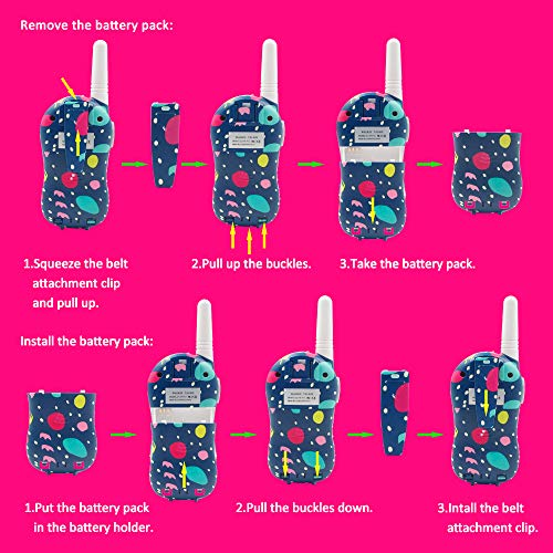 Qniglo Walkie Talkies Kids Adults 22 Channel Long Range 2 Way Radio Rechargeable Walkie Talkies(Blue,2 PCS) by Qniglo (Image #4)