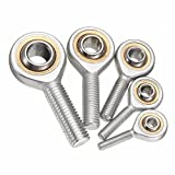 Pukido M5-M12 Male Joint Right Thread Rod End Joint Bearing Bronze Liner Performance Rod End - (Size: M6)