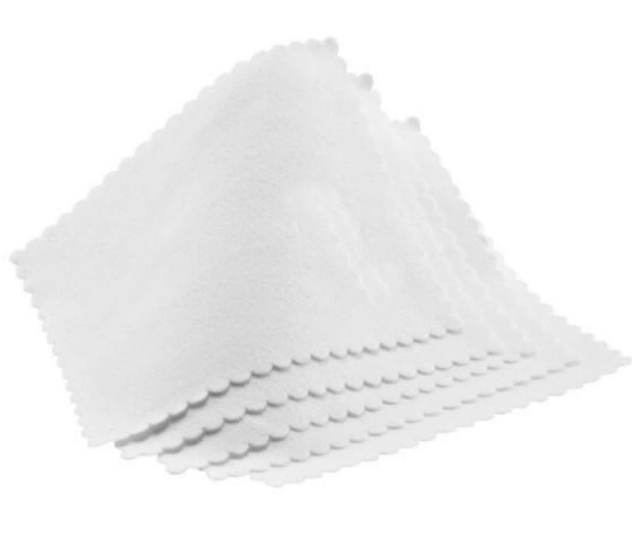 White Suede Premium Optical 6''x 6'' Microfiber Cleaning Cloths - for Screens, Lenses, Glasses, Apple iPads and More (50 Pack)