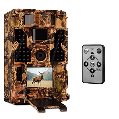 CLOBO Trail Camera- Waterproof 20MP 1080P Game Camera with Night Vision Motion Activated 0.2s Trigger Speed 3PIR 42IR LEDs 120° Detecting Range Cams for Wildlife Monitoring Home Security  (Best Game Camera Under 100)