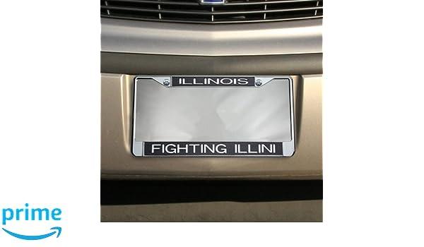 WinCraft Illinois University of S24689 LIC PLT Frame S//L Metallic