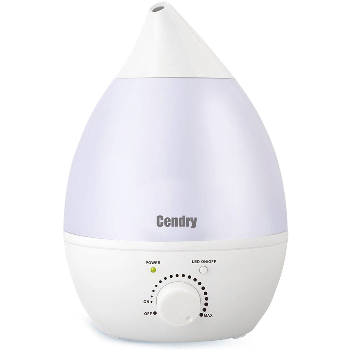 Ultrasonic Cool Mist Humidifier & Aromatherapy Essential Oil Diffuser, 1.3L/0.35Gallons Auto Shut-Off Quiet Humidifier For Bedroom Baby Room Kids and Office With Night Light Function & Filter
