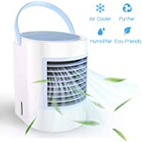 ShookOne Portable Air Conditioner Personal USB Air Cooler, [2019 Version] Desktop Cooling Fan with Breathing LED Night Light and 3 Speeds for Office Home Travel