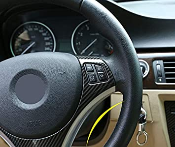Eiseng Car Steering Wheel Trim Sequins Frame for 3 Series E90 325i 328i 330i 335i E87 120i 130i 120d 2005-20011 Interior Accessories