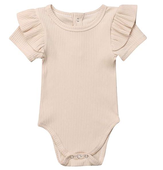 Amazon.com: Body de manga larga para bebé y niña, traje de ...
