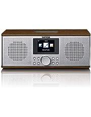 Lenco DIR-170 digitale radio - internetradio - WLAN radio - FM-radio - Bluetooth - TFT-display - radio wekker (2 wektijden) - AUX-ingang - line-out en USB - 2x10 Watt (RMS) - bruin