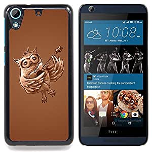 Owl Guitar Music Love Bird Forest Flying Caja protectora de pl??stico duro Dise?¡Àado King Case For HTC Desire 626 & 626s