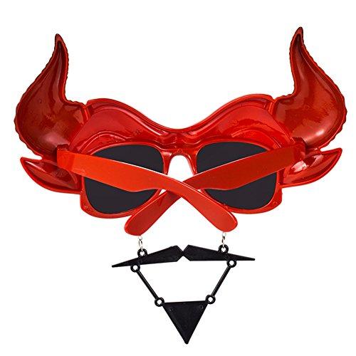 vidrios de nbsp;onality Divertidas Disfraces Divertidos Sol Funny Halloween Barón Fiesta barbudos de Gafas pers Creativo de Rotyr Cuernos aFtxYqw