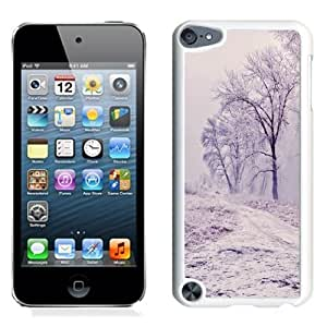 NEW Unique Custom Designed iPod Touch 5 Phone Case With Winter Path Trees Landscape_White Phone Case