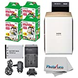 Photo : Fujifilm instax SHARE Smartphone Printer SP-2 (Gold) + Fujifilm Mini Twin Pack (80 Shots) + Travel Charger & Extra Battery + Cleaning Cloth + Filming Bundle - International Version (No Warranty)