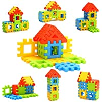 KIMAMIK Kids Non Toxic Material Happy Home House Building Block Toys (Multicolour)