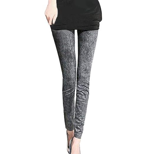 f84ec89e6de7d Amazon.com: SERYU Women Denim Pants Pocket Slim Leggings Fitness Plus Size  Leggins Length Jeans: Clothing