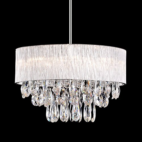 Pendant Light in Cylinder Ribbed Glass Tube Shade, (20