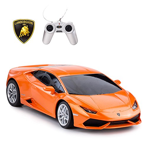 RASTAR Remote Control Car | 1:24 RC Lamborghini HURACÁN LP610-4 Toy Car Model Vehicle, Orange ()