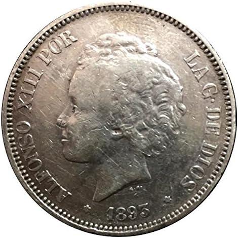 IMPACTO COLECCIONABLES Monedas Antiguas - España 5 Pesetas de Plata 1892/94. Alfonso XIII. El Bucles: Amazon.es: Juguetes y juegos