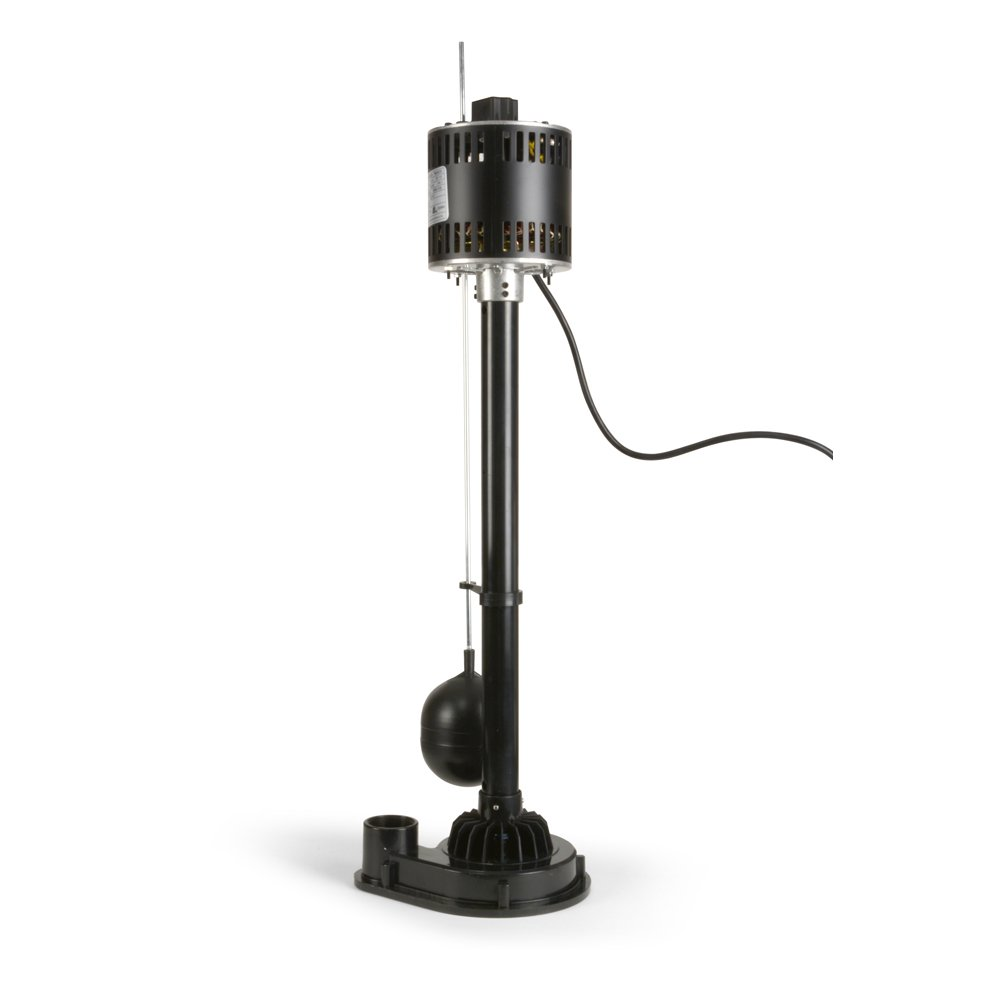 ECO-FLO Products EPP33 Pedestal Sump Pump with Vertical Float Switch, 1/3 HP, 3,000 GPH