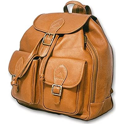 new David King & Co. Double Front Pocket Backpack, Tan, One Size