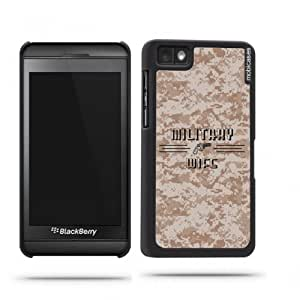 Military Wife 1 Camo Blackberry Z10 Case - For Blackberry Z10