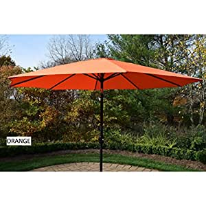 Oakland Living Corporation Metal Framed 9-foot Umbrella with Crank and Tilt system Blue