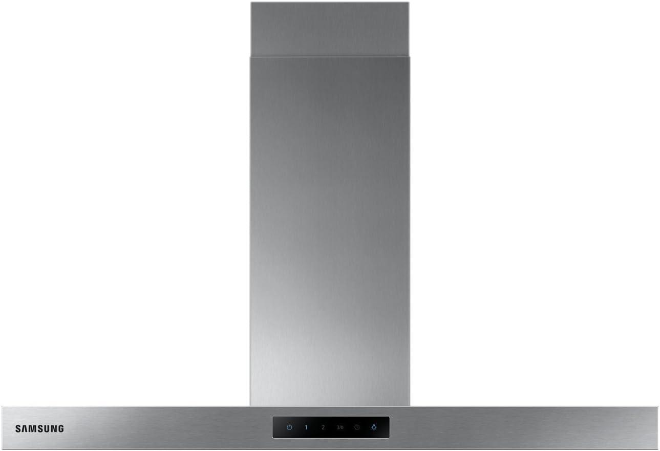 // maxi. largeur 90 cm en dBA : 713 en m3//h Hotte aspirante Box D/ébit dair maximum Niveau sonore D/écibel mini :  71 Hotte decorative murale Samsung NK36M5060SS
