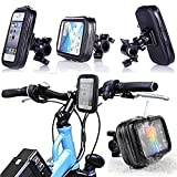 HDE Universal Water Resistant Bike & Motorcycle Handlebar Mount for Smart Phones / GPS