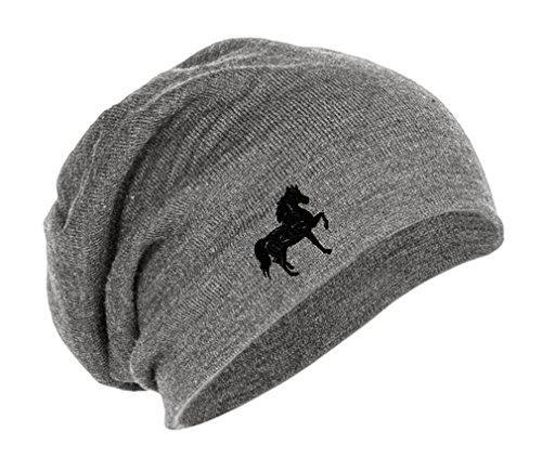 Speedy Pros Tennessee Walking Horse Embroidery Embroidered Slouch Long Beanie Skully Hat Cap ()