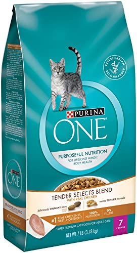 Purina ONE Tender Selects Chicken Cat Food SmartBlend Purposeful Nutrition 7 lb Bag