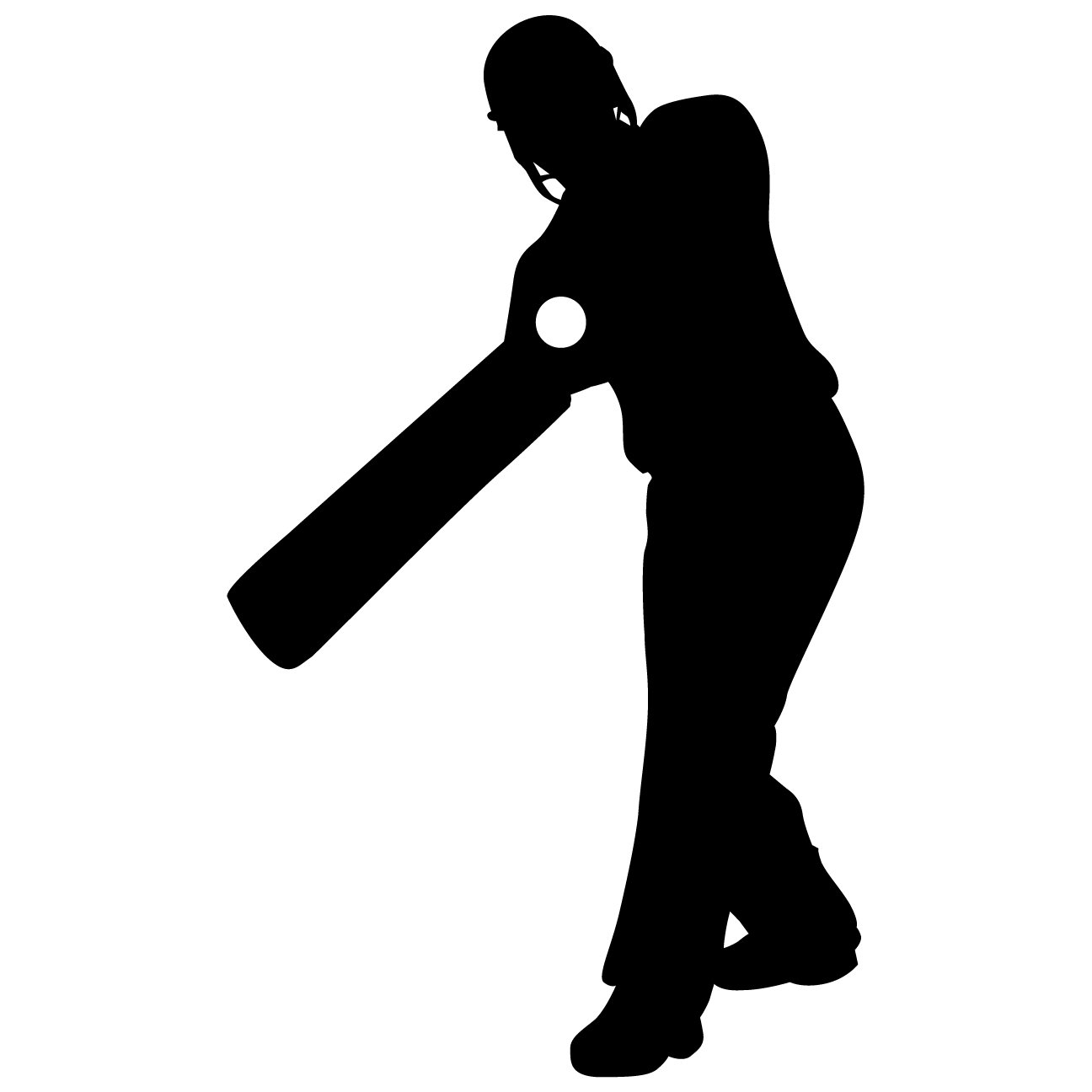 Cricket Wall Decal Sticker 2 - Decal Stickers and Mural for Kids Boys Girls Room and Bedroom. Cricket Ball Sport India Wall Art for Home Decor and Decoration - Cricket Silhouette Mural