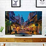 quarter round cord cover - Analisahome Protect Your TV Pubs and Bars with neon Lights in The French Quarter New Orleans USA Protect Your TV W35 x H55 INCH/TV 60